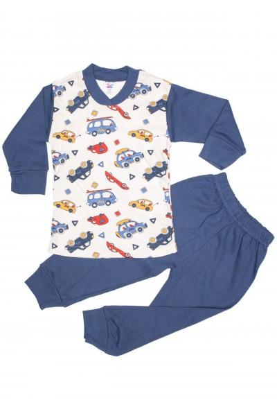pijama sdm bleumarin imprimeu masini