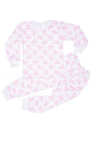 pijama copii azuga imprimeu pisicute roz