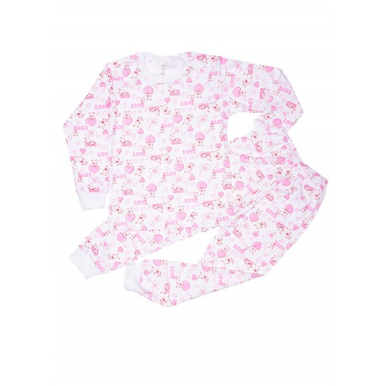pijama copii azuga imprimeu love