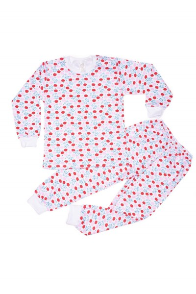 pijama copii azuga imprimeu pisicute bleu