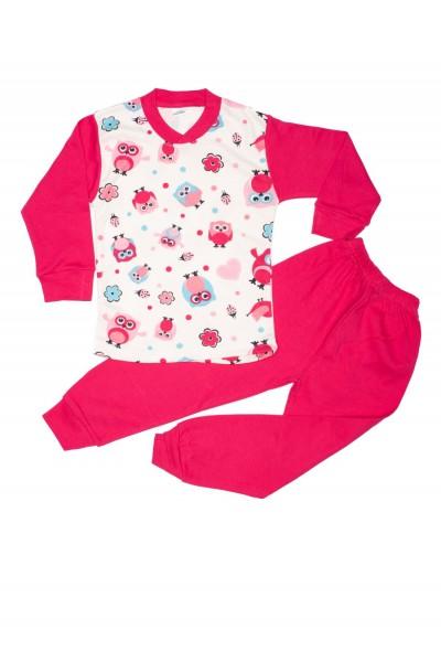pijama fete s. d.m. imprimeu bufnita