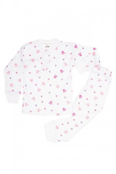 pijama copii baby confex imprimeu urme de pasi