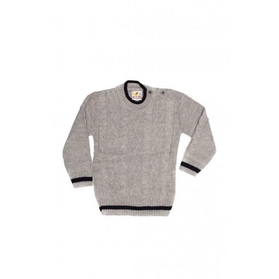 pulover copii aslan gri