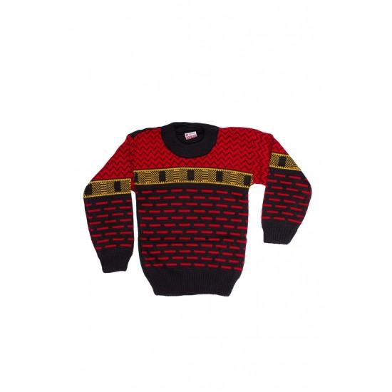 pulover copii ocut bleumarin si rosu
