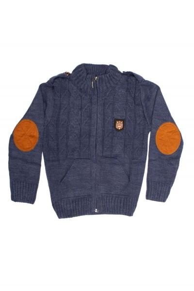 pulover baieti hircin bleumarin