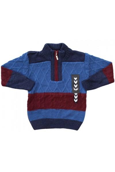 pulover copii albastru fermoar