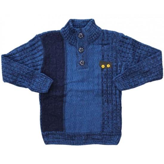 pulover copii bleumarin nasturi