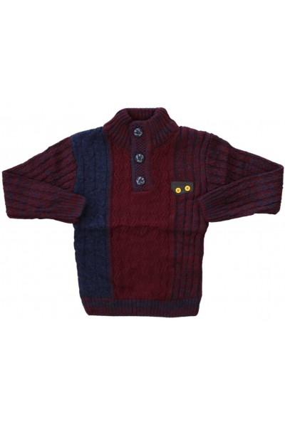 pulover copii grena nasturi