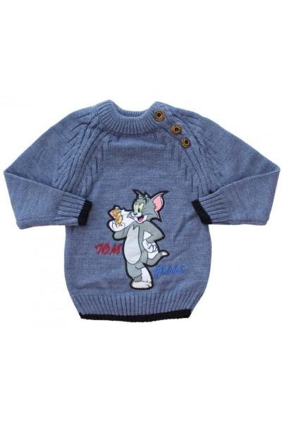 pulover copii albastru Tom