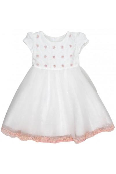 rochita fetite alba perle roz