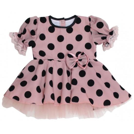 rochita ocazie roz pudrat buline negre