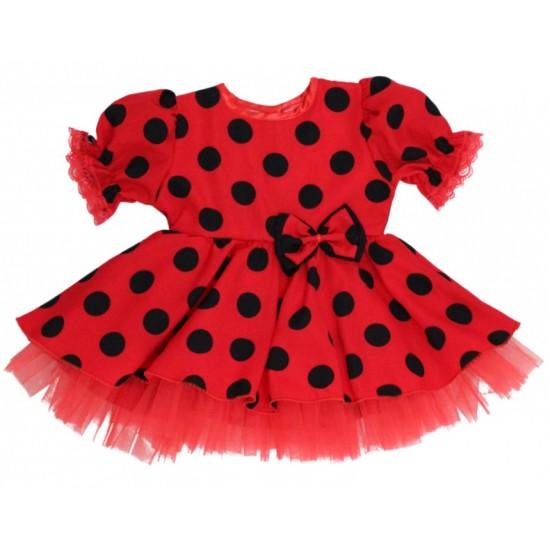 rochita ocazie rosie buline negre