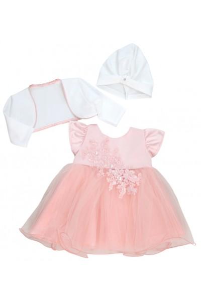 rochita botez roz dantela perle