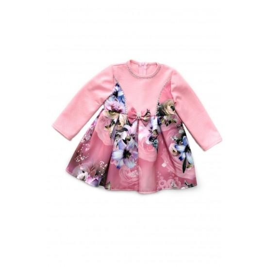 Rochita fetite ubra roz imprimeu floricele