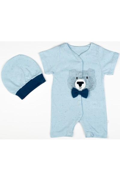 Salopeta 2 piese Sevnur bear bleu
