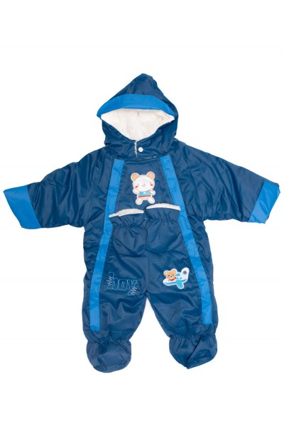 salopeta exterior copii baby bleumarin
