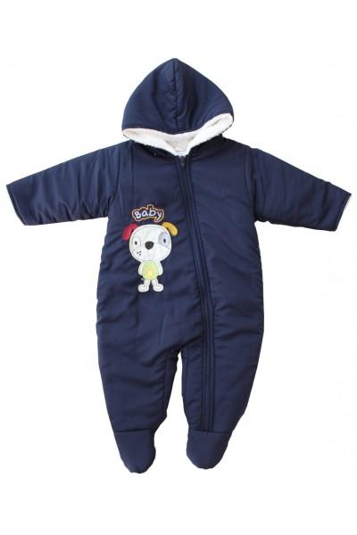 Salopeta bebe groasa pentru exterior bleumarin