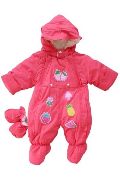 Salopeta bebe groasa pentru exterior roz