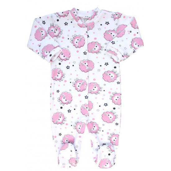 Salopeta bebe bumbac oita roz
