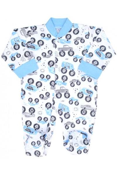 salopeta bebe bumbac subtire masinute