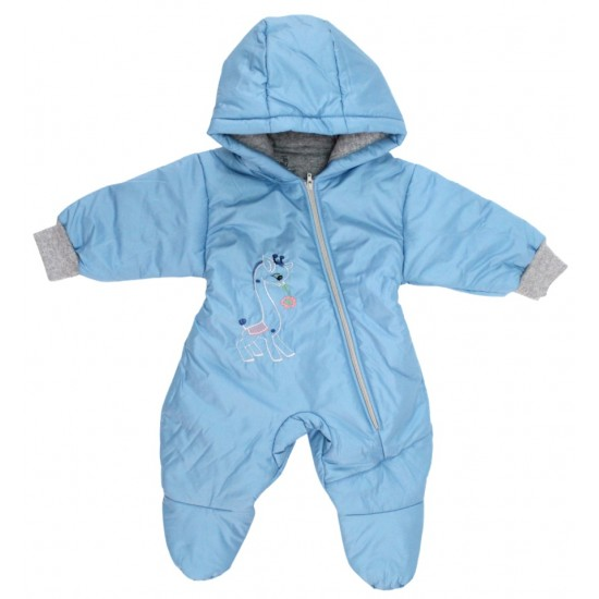 Salopeta bebe exterior model girafa bleu
