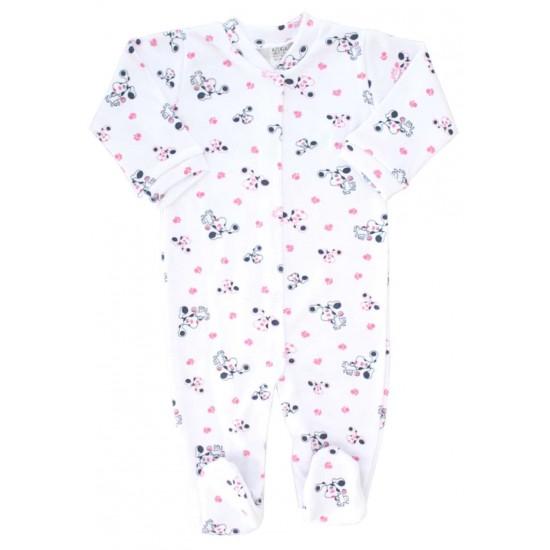 salopeta bebe bumbac azuga catel roz