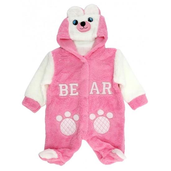 salopeta cocolino bebe roz ursulet