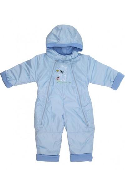 Salopeta bebe exterior model ursulet bleu