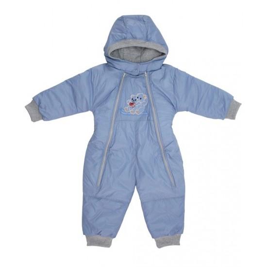 Salopeta bebe exterior model ursuleti bleu inchis