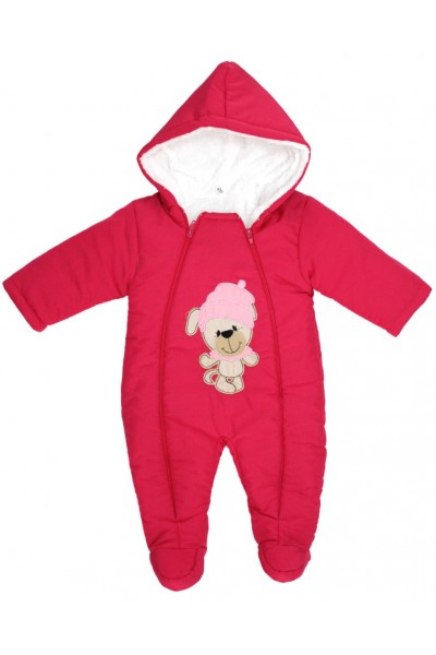 Salopeta bebe groasa pentru exterior cyclame ursulet