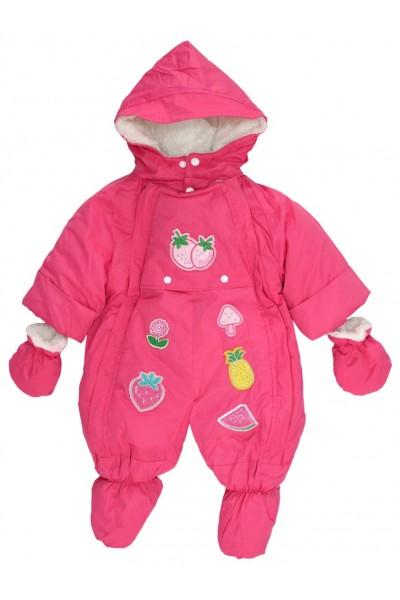 Salopeta bebe exterior roz model fructe