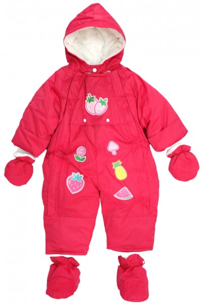 Salopeta bebe exterior roz model fructe botosel detasabil