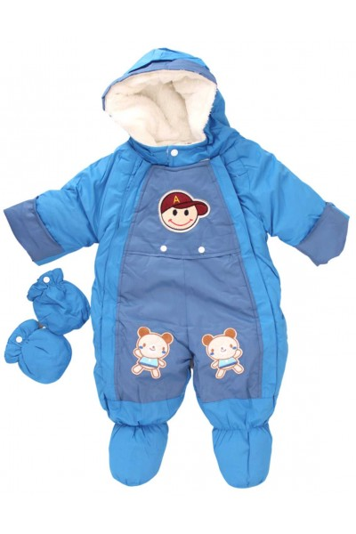 salopeta bebe exterior albastra ursuleti