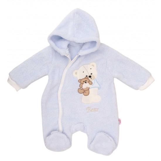 salopeta bebe cocolino bleu ursuleti