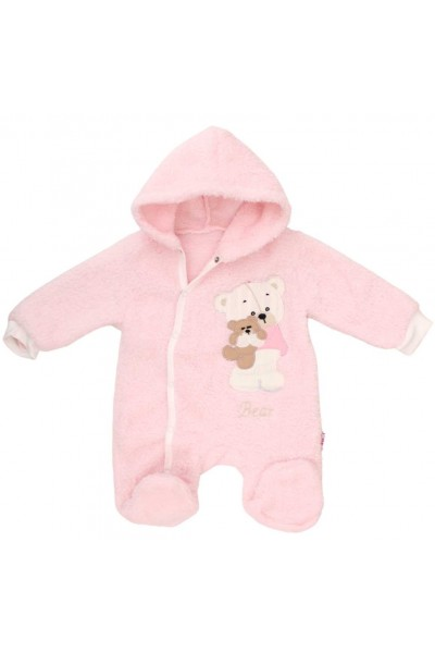 salopeta bebe cocolino roz ursuleti