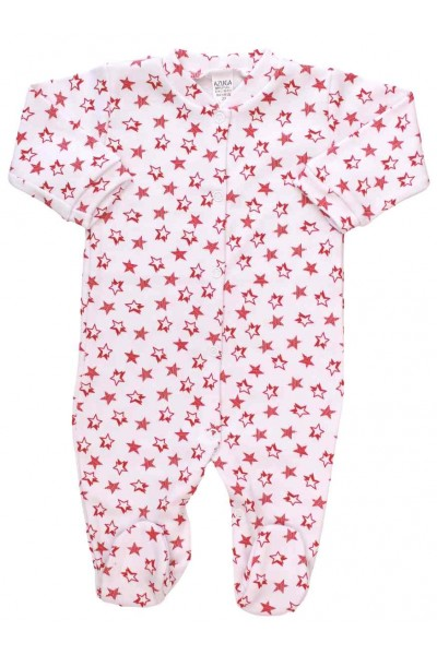 salopeta bebe bumbac stelute rosii
