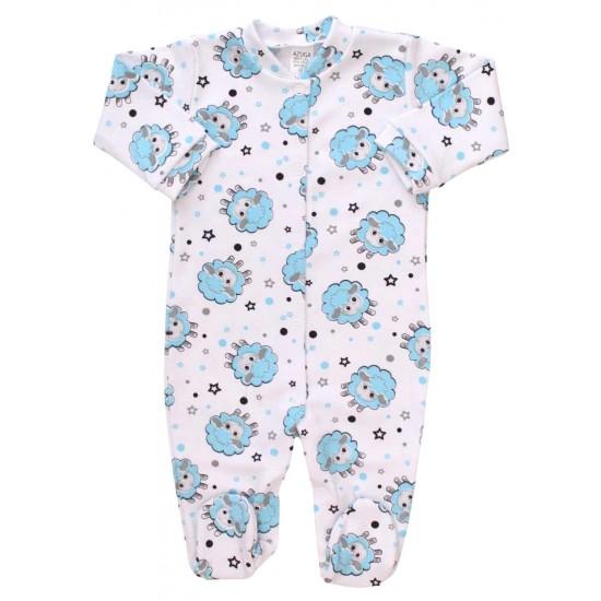 salopeta bebe bumbac oita bleu