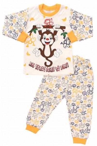 pijamale bumbac copii maimuta