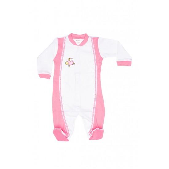 salopeta copii azuga roz-alb