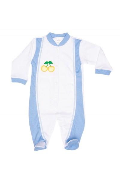 salopeta copii azuga alb-bleu