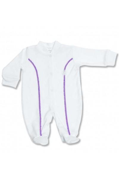 salopeta copii azuga alba insert mov + fes alb