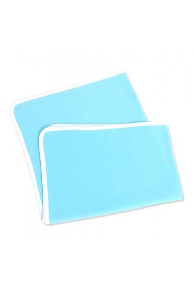 Paturica azuga bleu cu margini albe