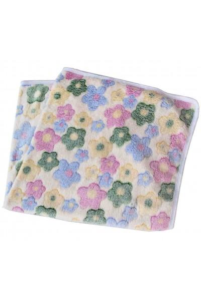 Paturica pufoasa imprimeu floricele