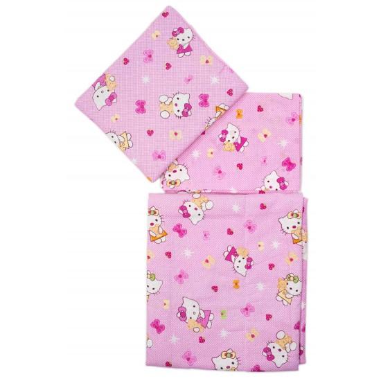 Set lenjerie patut bebe roz