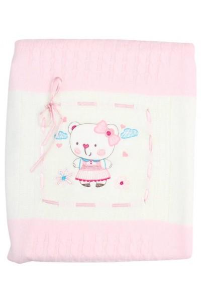 paturica roz imprimeu fetita ursulet