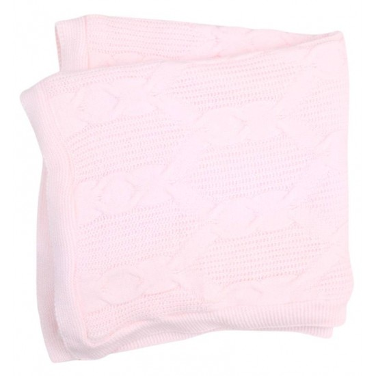 paturica tricotata roz