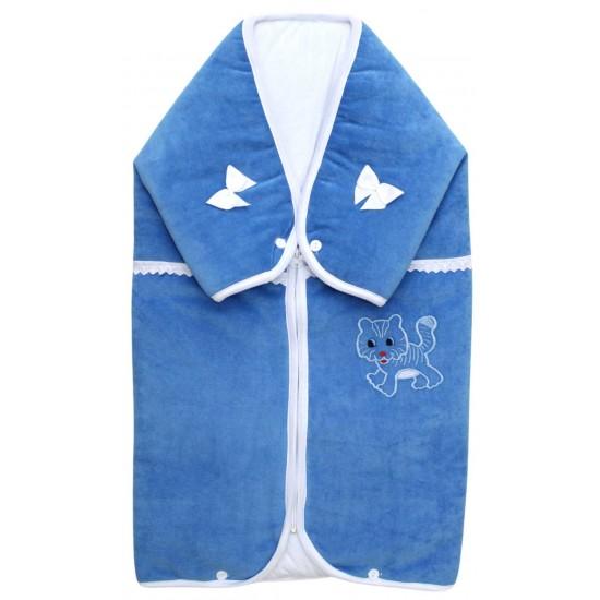 port-bebe catifea bleu