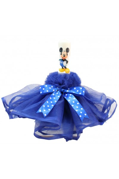 lumanare botez albastra mickey