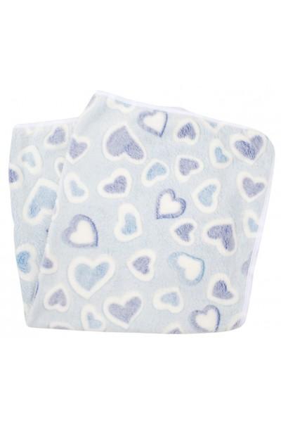 Paturica bebe cocolino inimioare bleu
