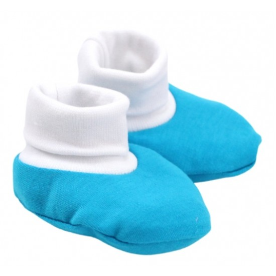 Botosei bebe simpli bumbac albastru